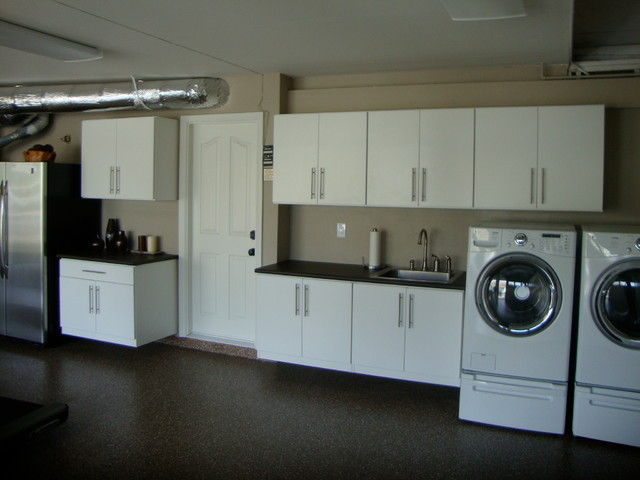 Garage Closets Cabinets Traditional Laundry Room