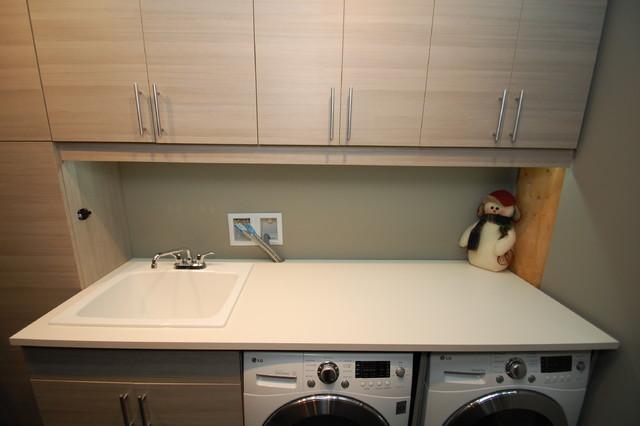 Garage/mudrooms modern-laundry-room