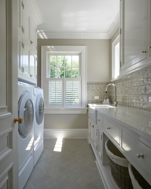 Georgian Residence New Canaan Traditional Laundry Room