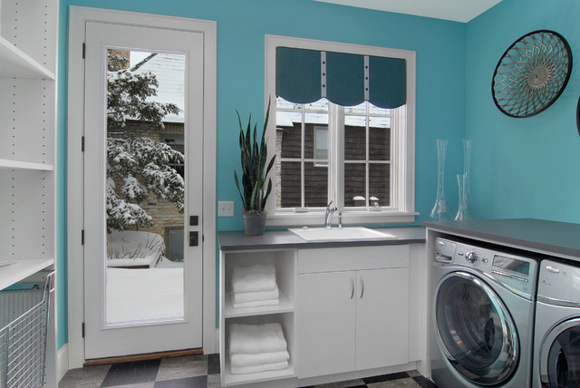 Great Neighborhood Homes contemporary-laundry-room