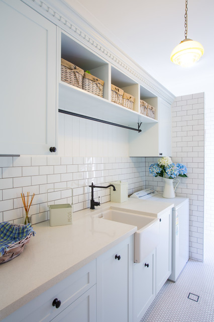 Hampton Style Laundry Traditional Room Brisbane By Makings Of Fine Kitchens