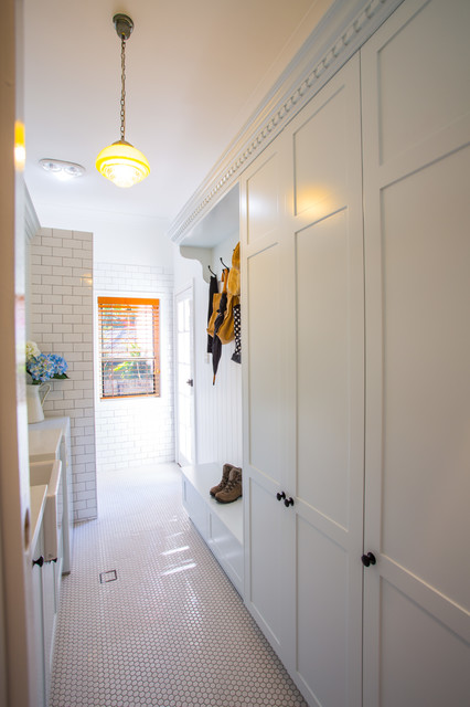 Hampton Style Laundry - Traditional - Laundry Room - brisbane - by Makings of Fine Kitchens ...