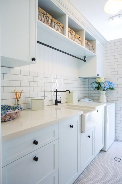 Hampton style laundry traditional laundry room canberra
