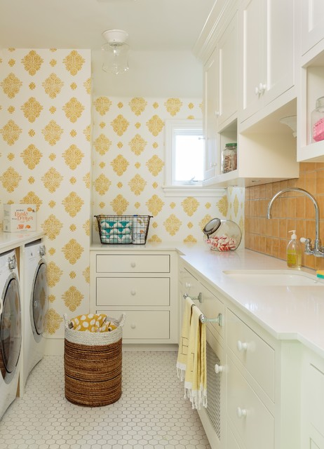 Hamptons Style House transitional-laundry-room