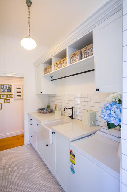 Hamptons Style Laundry - Traditional - Laundry Room