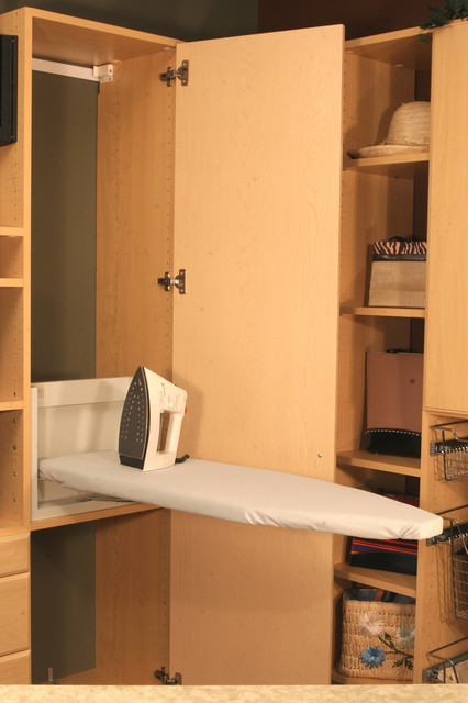 Hidden Ironing Board In Laundry Or Pantry Room