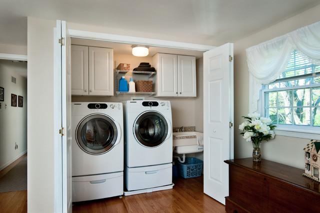 Hidden Laundry Area - Traditional - Laundry Room ...
