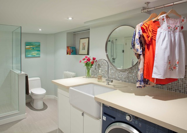 Laundry Bathroom Combo Design, Pictures, Remodel, Decor and Ideas - page 3