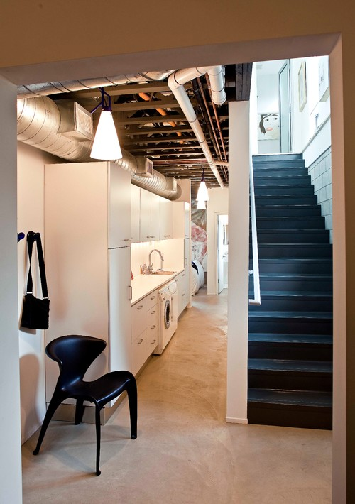 The Homeowners Of This Basement Werent Shy About Putting Lights Throughout Space They Used A Recessed Lighting To Brighten Entire And