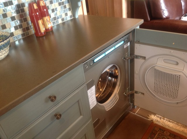 Hutch Hiding Asko Washer And Dryer Traditional Laundry