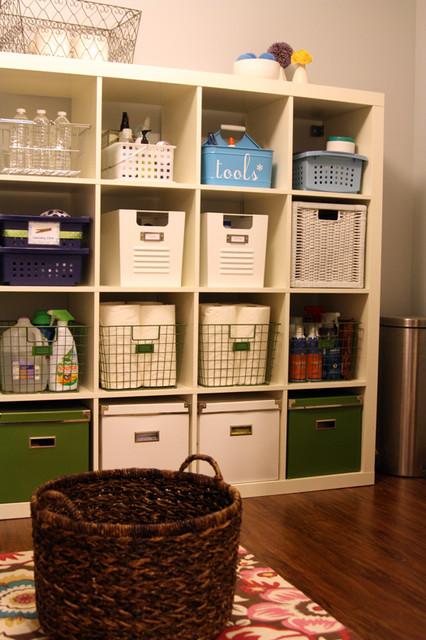 Heart Organizing Eclectic Laundry Room Wichita