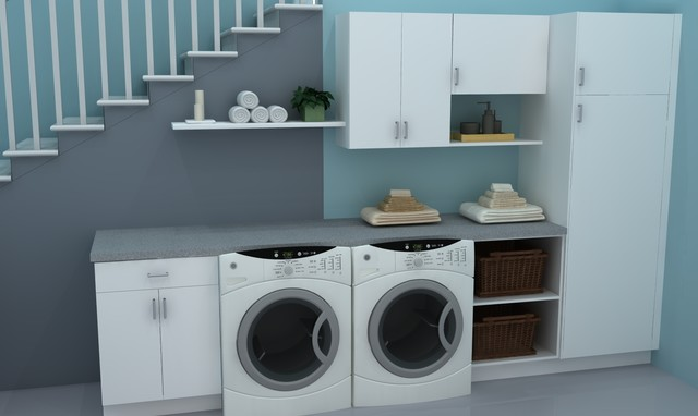 Ikea laundry rooms classique buanderie other metro par ikd inspired kitchen design - Utility rooms in small spaces gallery ...