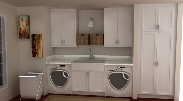 IKEA Laundry Rooms Traditional Laundry Room Miami By IKD - Laundry room ideas ikea