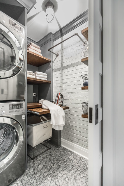 Industrial Chic Industrial Laundry Room