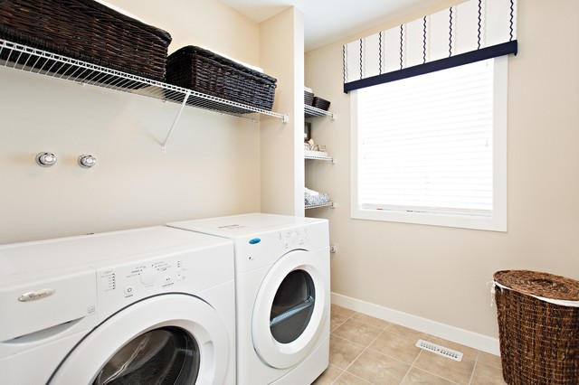 Insight Showhome in Secord transitional-laundry-room