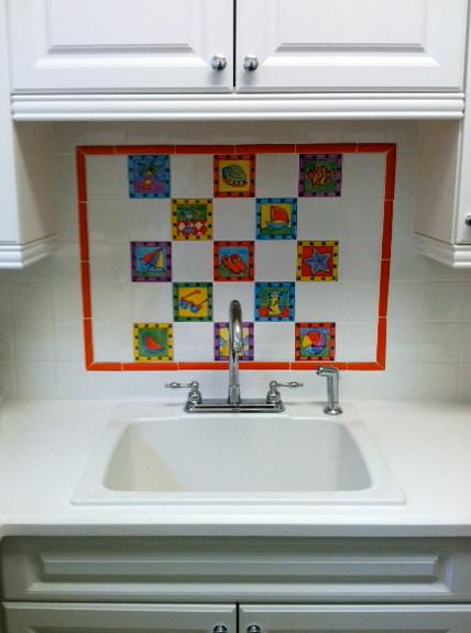 Intracoastal Key West Style Custom House tropical-laundry-room