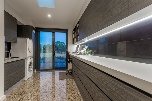 Inverleigh Project - Modern - Utility Room - geelong - by Your Custom Cabinets