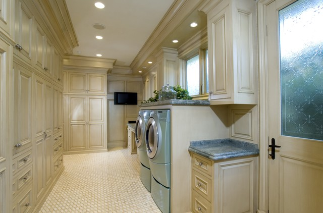 Irvine Terrace traditional laundry room