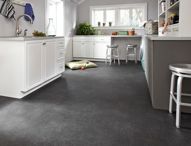 modern laundry room flooring | IVC Flexitec Cushioned Fiberglass Sheet Vinyl Flooring