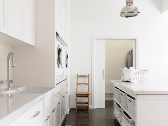 Kew Home Renovation contemporary-laundry-room