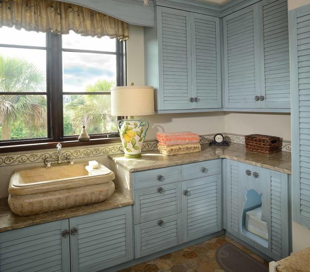Kiawah Tuscan Villa - Beach Style - Laundry Room - other metro - by Buffington Homes South Carolina