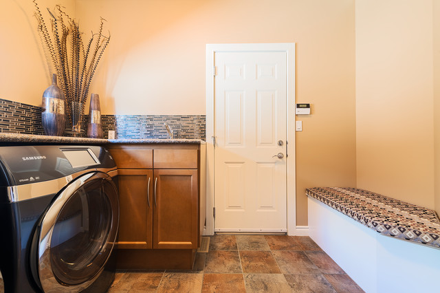 Bult Main Floor Eclectic Laundry Room Other By