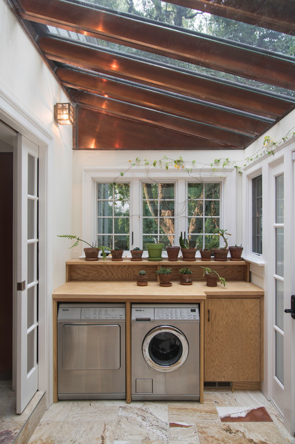 Kitchen And Mud Room Copper And Glass Conservatory Historical Home Traditional Laundry Room New York By Clawson Architects Llc Houzz Au