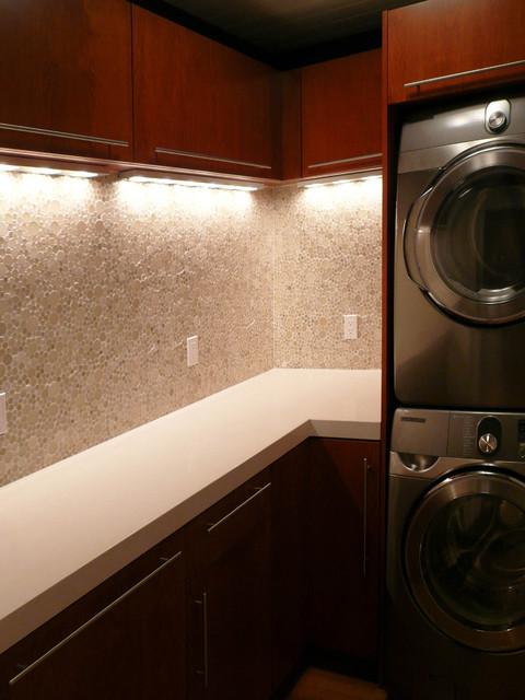 Klopf Architecture Los Altos Hills Mid Century Modern A Frame midcentury-laundry-room