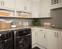 KSI Designer, Jim McVeigh transitional-laundry-room