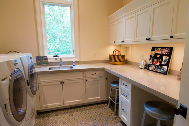 Lake Oswego Riverview Home - Traditional - Laundry Room - portland - by Riverland Homes Inc