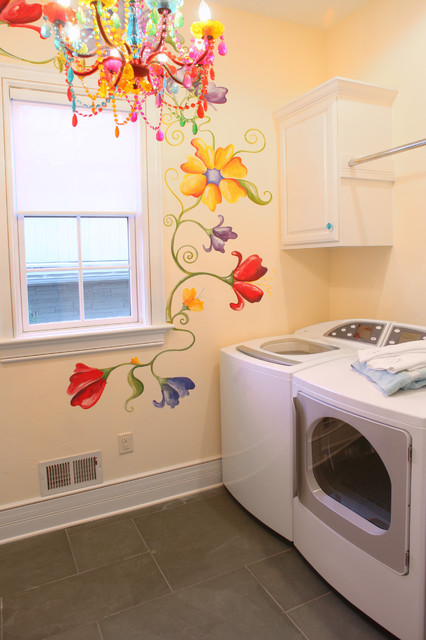 Lakelyn traditional laundry room