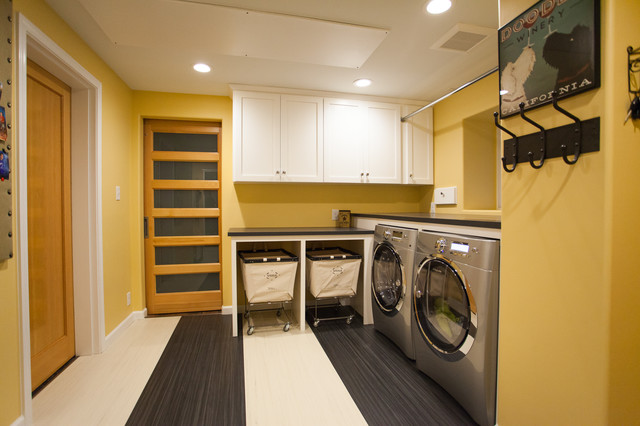 Laundry and mud room with custom dog wash - Transitional - Laundry Room - Other - by Jennifer ...