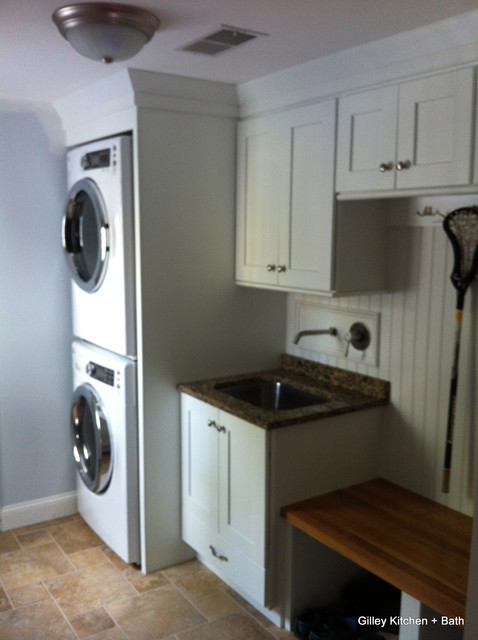 Laundry area tune-up in Simsbury traditional-laundry-room