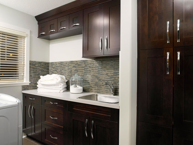contemporary laundry room laundry