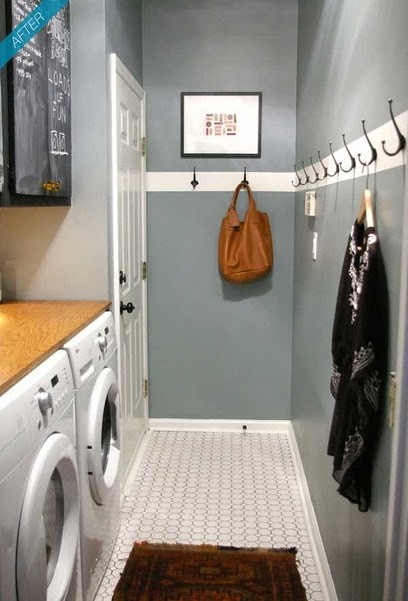Inspiration for a contemporary laundry room remodel in Other