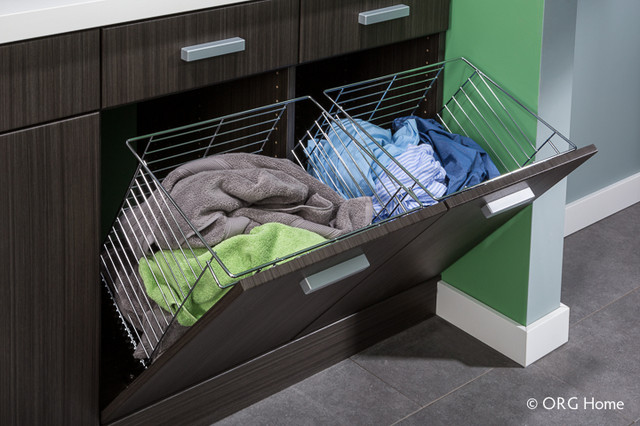 Laundry modern laundry room boston by closet - Meuble avec panier a linge sale ...