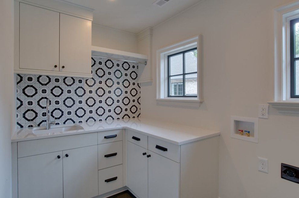 Inspiration for a laundry room remodel in Charlotte