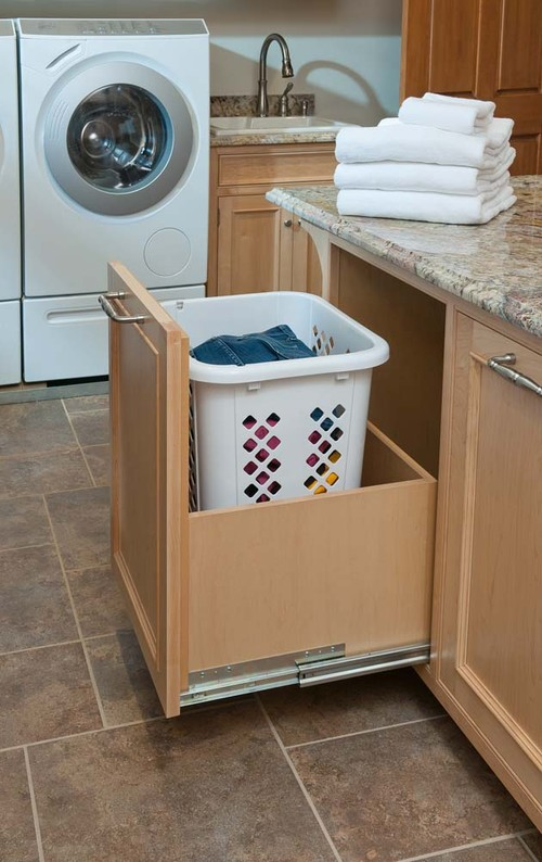 What is the cabinet that stores the hamper?