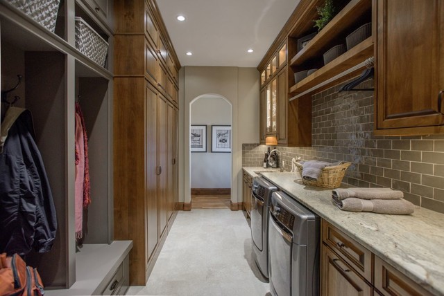 Laundry Mudroom And Butler S Pantry In Littleton Co