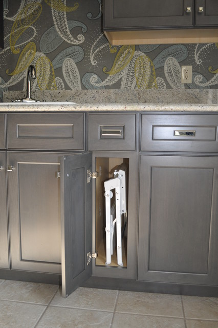 Laundry redo transitional laundry room detroit by for Kitchen cabinets 63021