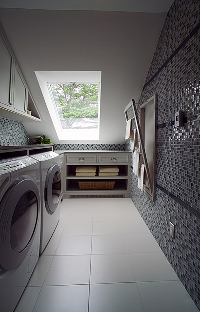 Laundry renovation, Oakville contemporary laundry room