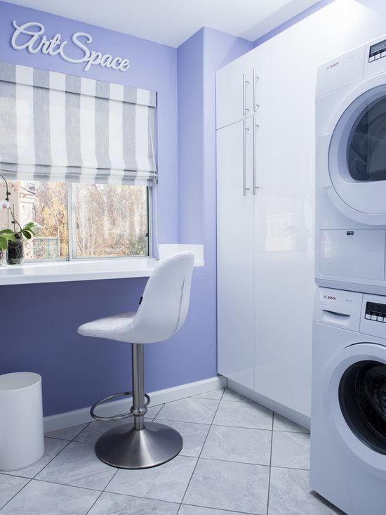 Wood Front Door Laundry Room Design Ideas, Pictures ...