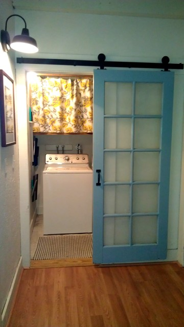 Laundry Room Barn Door Makeover Farmhouse