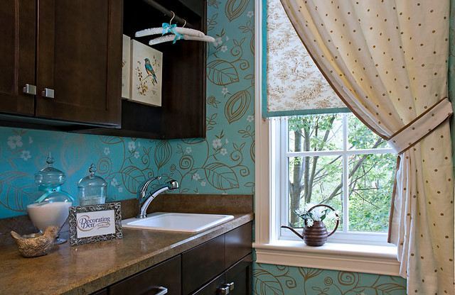 Laundry Room Bling traditional-laundry-room