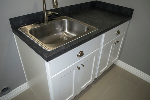 Utility Sink With Cabinet Base : Laundry Room Cabinets with Sink - Laundry Room - other metro - by ...