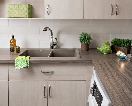 Laundry Sink Countertop : ... Pictures, Remodel & Decor with Laminate Countertops and a Drop-In Sink
