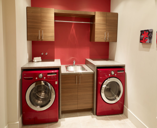 Laundry room - Contemporary - Laundry Room - Montreal - by CUISINES BEAUCAGE