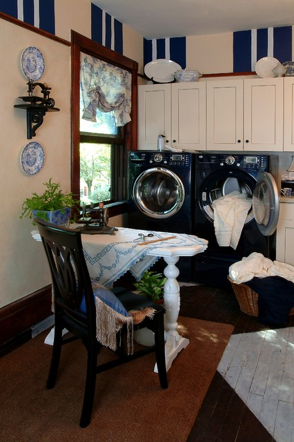 Laundry Room decorated with Sewing Machines - Traditional - Laundry Room - philadelphia - by ...