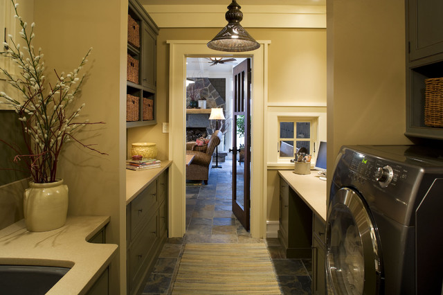 traditional laundry room by Susan Hoffman Interior Designs
