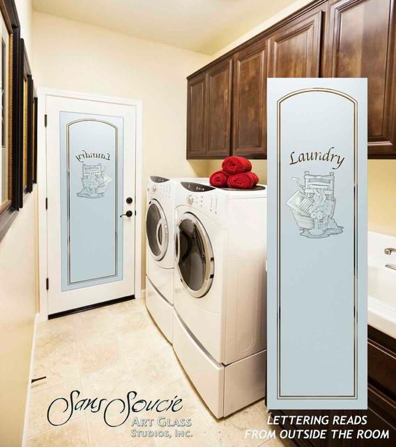Laundry Room Door Sandblast Frosted Gl Thru The